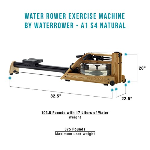 Water Rower Exercise by S4 Natural Self-Regulating Resistance