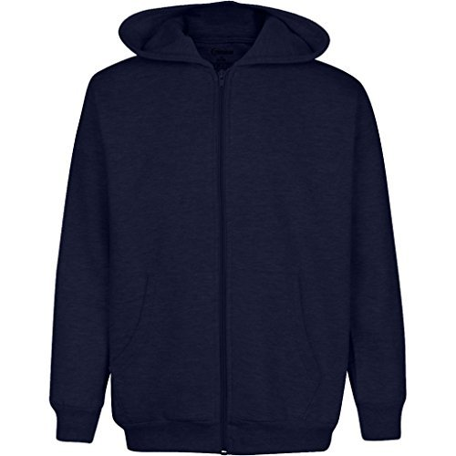 Premium Full Zip Hooded Fleece – Comfortable & Warm Men's Fleece Hoodie (XX Large, Navy) Zippered Mens Sweatshirt