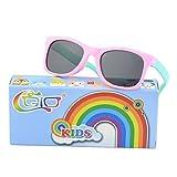 CGID Rubber Flexible Kids Polarized Sunglasses Glasses for Children Age 3-6,K25