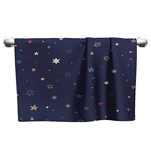Premium Seamless Pattern with Handdrawn Stars Bright Vector Illustration 2,Hanging Towel Rack for Bathroom