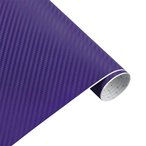 VINFLY&C 35Cmx200cm Car Styling 3D 3M Carbon Fiber Sheet Wrap Film Vinyl Car Stickers and Decals Motorcycle Automobiles Car Accessories Purple