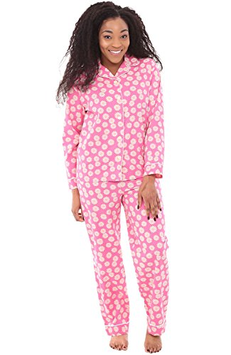 Alexander Del Rossa Woven Cotton Floral and Paisley Long Sleeved Pajama Set, 100% Cotton Pjs