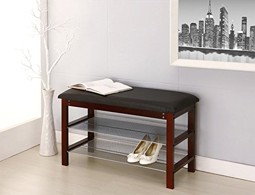 Organize It All Bench with Shelves
