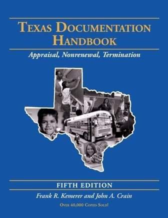 Texas Documentation Handbook: Appraisal, Non Renewal, - Texas North Park Dallas