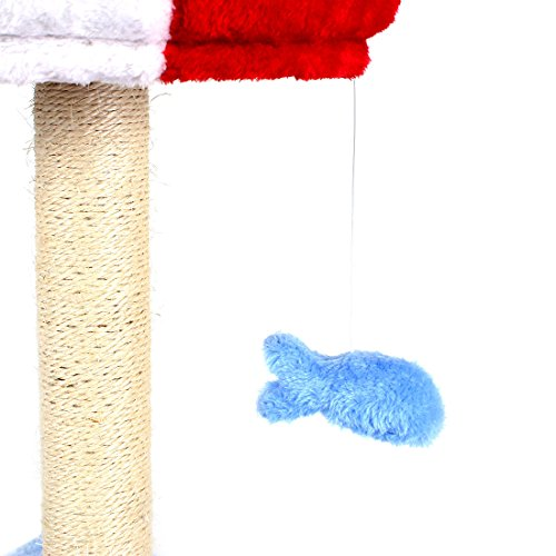 CUPETS Cat Activity Tree House Condo with Scratching Post & Cat Toy Fish - Multiple Colors by CUPETS (Image #2)