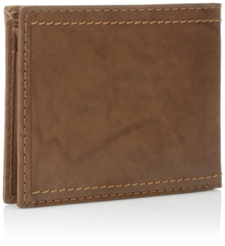 Tan Men's with Logo Campbell J Passcase Edge Stitching Overlay with Double CSO5xvH