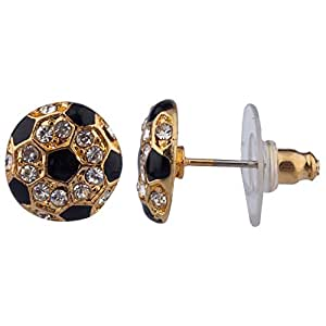 Lux Accessories Bling Soccer Sports Studs