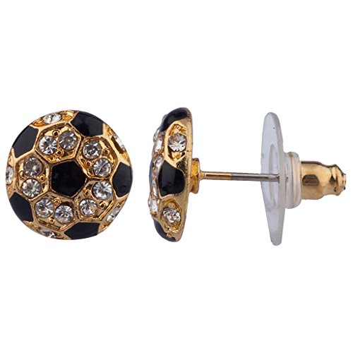 Lux Accessories Bling Soccer Sports Studs (Soccer Bling)