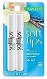 Softlips Lip Protectant/Sunscreen SPF 20, Value Pack, Vanilla 2 Each by Softlips