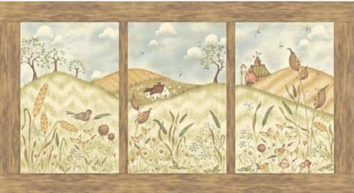 (Red Rooster Jacqueline Paton 'Weeds N Tweeds' Cotton Fabric Panel)