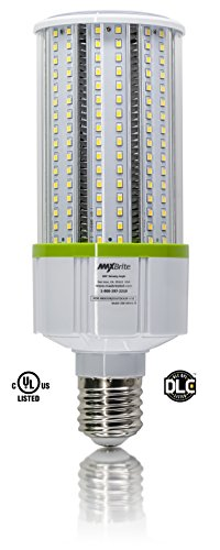 40W LED CORN LIGHT BULB 5000K Replaces 400W, 4,600 lumens Mogul Base E39, 100-277V AC UL/cUL DLC by MaxBrite