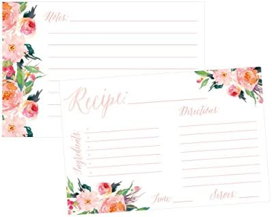 amazoncom 4x6 recipe cards set of 50 recipe cards blank recipe cardsbridal shower neighbor christmas holiday gift thick recipe card recipe note