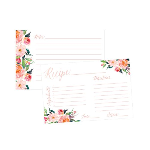 4x6 Recipe Cards, (Set of 50) Recipe Cards, Blank Recipe CardsBridal Shower, Neighbor Christmas Holiday Gift Thick Recipe Card, Recipe Note Cards