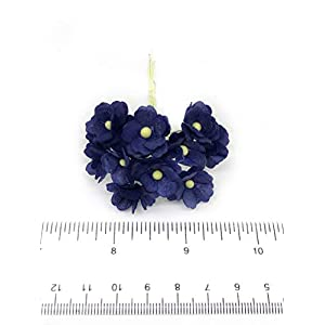 1.5cm Navy Blue Mulberry Paper Flowers, Navy Paper Hydrangea, Wedding Flowers, Wedding Decor, Wedding Table Flowers, Navy Blue Wedding, Artificial Flowers, 50 Pieces 4