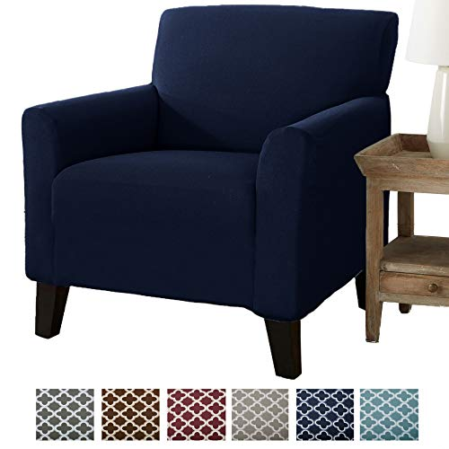 Form Fit, Slip Resistant, Stylish Furniture Cover/Protector Featuring  Lightweight Stretch Twill Fabric  Brenna Collection Strapless Slipcover  by  Home
