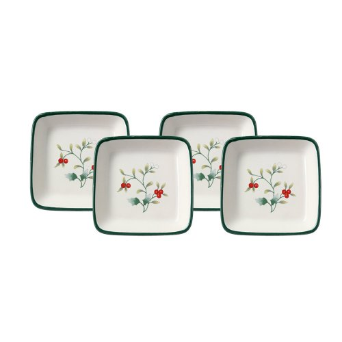 (Pfaltzgraff Winterberry Square Appetizer Plate (4-Inch, Set of 4))
