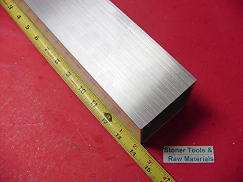 3''x 3''x 1/8'' Wall x 14'' Long Aluminum Square Tube 6063 T52 3'' SQ x .125''