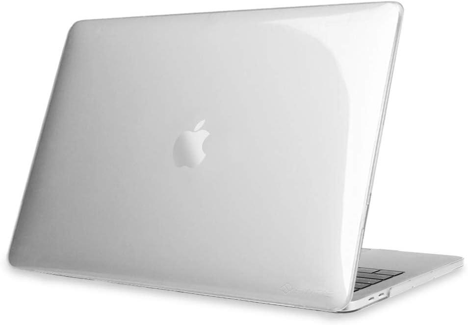 Fintie Funda para MacBook Pro 13 (2020) - Súper Delgada Carcasa Protectora de Plástico Duro para MacBook Pro 13.3 Pulgadas A2238 (M1)/A2251/A2289 con Touch Bar y Touch ID, Transparente