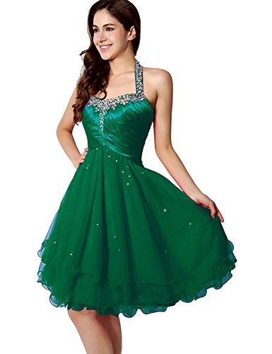 Belle Maison Robes De Mariée En Mousseline De Soie Juniors Soirée Bal Licol Robes De Bal Sd226-vert