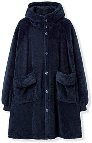 Ladies' warm pajamas Nightgown,Winter Women Sleepwear Cute Ears Flannel Robe Hooded Pajamas Girl Bathrobe Sleep Robes…