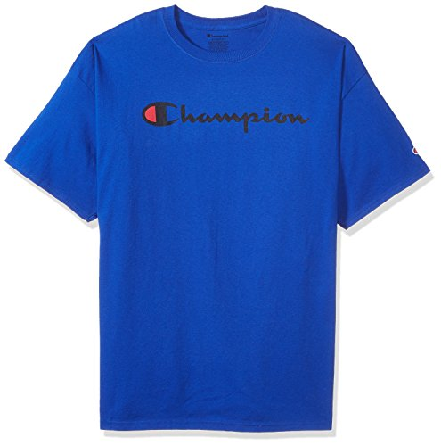 Champion Men's Classic Jersey Script T-Shirt, Surf The Web/Champion Script, 2XL ()