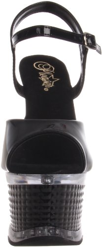 black Da Illu659 w Donna Sandali Patent m Nero Pleaser nwIqfA0F0