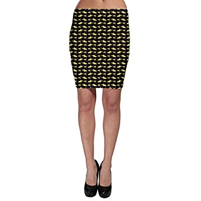 Brown Image of Sharks and Underwater Masks Bodycon Skirt
