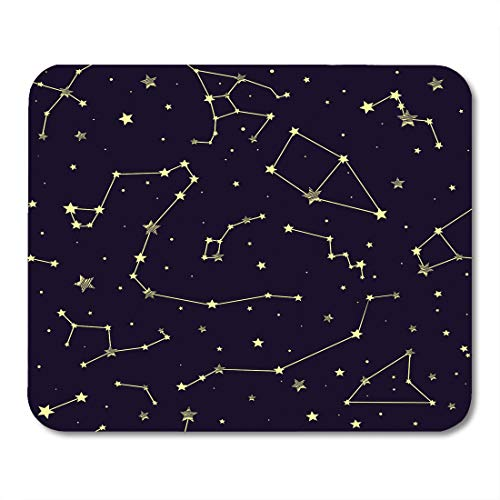 Emvency Mouse Pads Galaxy Constellations Pattern Stars Map Sign Abstract Astrology Mouse pad 9.5