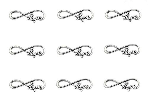 40pcs Infinity Hope Symbol Connectors Charms Pendants for DIY Necklace Bracelet Jewelry Making Accessories(Antique Silver)