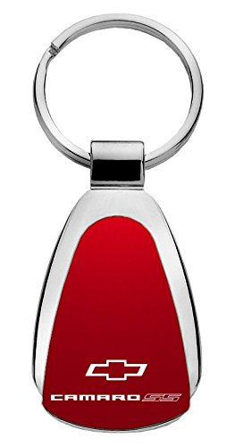 UPC 799695224135, Chevy Camaro SS Teardrop Shaped Key Chain Red