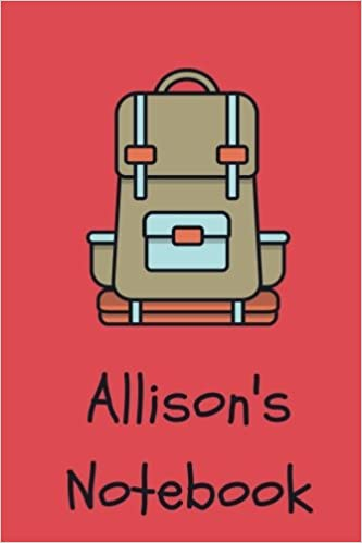 Allison s Notebook  Backpack Cover 6x9
