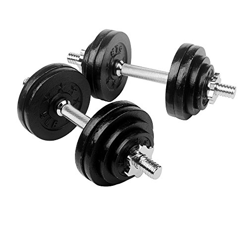 Ringstar Starring 105-200 Lbs Adjustable Dumbbells (65 LBS Black)