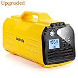 Aeiusny Generator Portable, UPS Generator Solar Rechargeable, Backup Battery with 110V AC Outlet, 12V Car, USB Output Off-Grid Power Supply for CPAP Camping Emergency