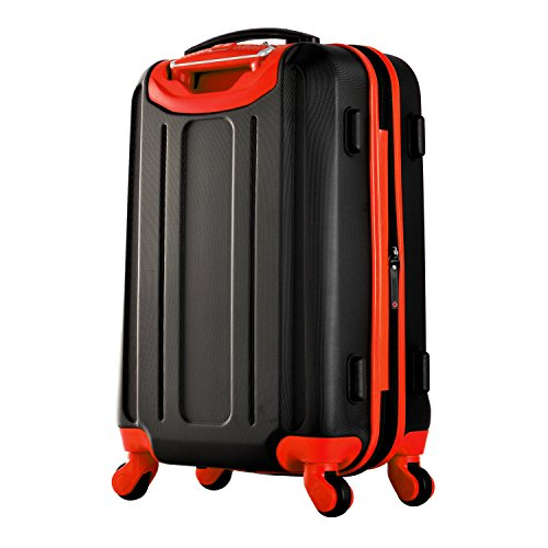 Olympia Apache 3pc Hardcase Spinner Luggage Set, Black/Red by Olympia (Image #2)
