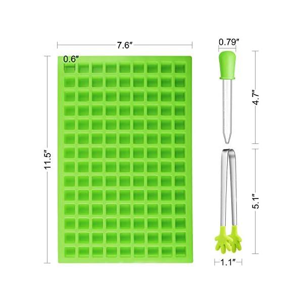 BBTO 2 Pezzi 126-Cavità Stampo Quadrato in Silicone Mini Stampi per Caramelle Vaschetta del Ghiaccio con Clip Contagocce… 2 spesavip