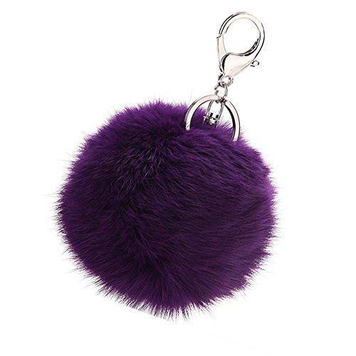 it Fur Ball Pom Pom Keychain Bag Purse Charm Backpack Car Key Ring ()
