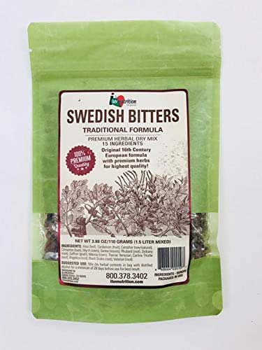 Amme's Herbals Swedish Bitters Dry Mix 3.88 Oz / 110 Grams