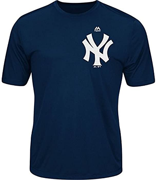 9d435ad5b97 Amazon.com  Majestic Youth Cool Base MLB Evolution Shirt New York ...