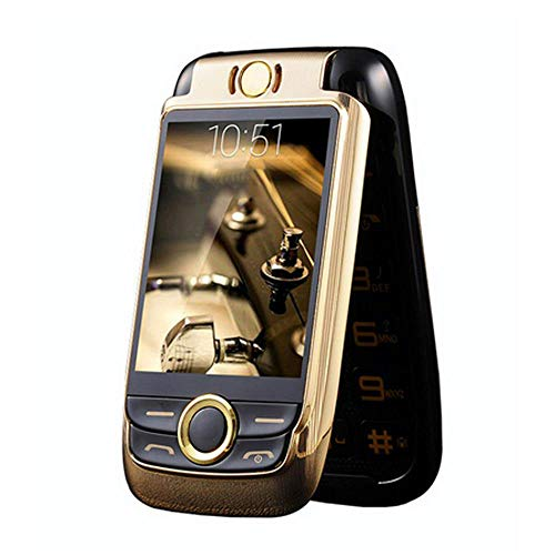 Peedeu GSM Unlocked Flip Phone with Camera,Dual Screen with Big Button FM Senior Flip Mobile Phone for Seniors,Kids,Young People