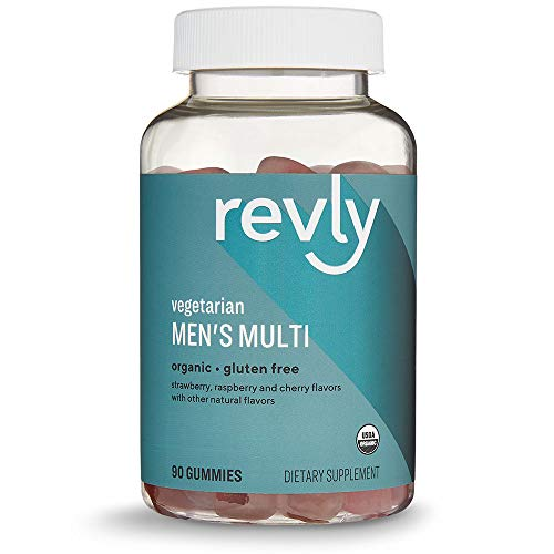 Amazon Brand – Revly Men's Multivitamin, 90 Gummies, 1 Month Supply, Vegetarian, Organic For Sale