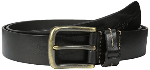 Tommy Hilfiger Men's Big-Tall Casual Bridle Jean Belt With Brass-Finish - Buckle Brass Big