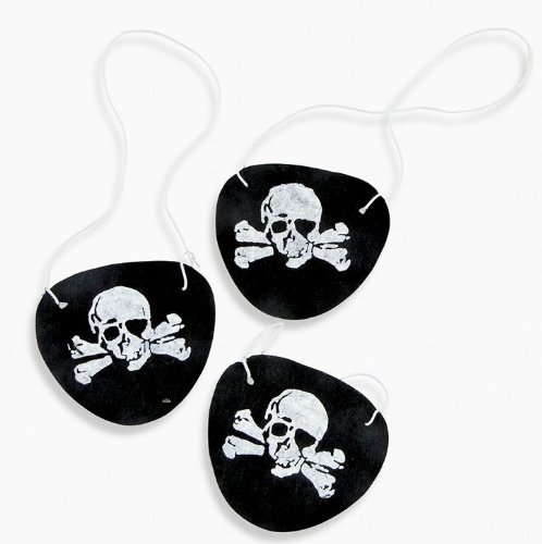 [Pirate Eye Patch Assortment - 12 pc] (Child Swashbuckler Pirate Costumes)