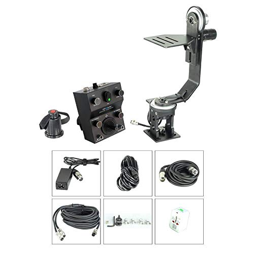 Proaim Professional Motorized Jr. Pan Tilt Head with 12V Joystick Control for DSLR Video Cameras Camcorders up to 6kg/13.2lb for Jib Crane Tripod + Carrying Bag (PT-JR) (Crane Jib Head)
