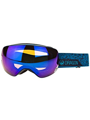 Dragon Unisex X2 Goggles Stone BlueBlue Steel and Yellow Red Ion by Dragon