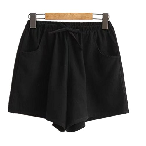 Elastici Donna L'estate Da Pantaloncini Casual Per Il Tempo Nero Fuweiencore Grandi Libero vE0gwqw