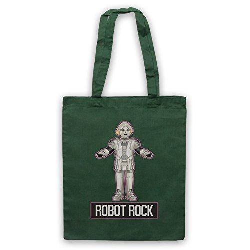 amp; Rock My Fonce Icon Clothing Parody d'emballage Sci Vert Retro Art Robot Fi Dance Sac XxUEqTU