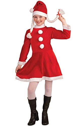 Lil Ms Santas Helper Deluxe Child Costume