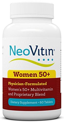 NeoVitin Women's 50+ Formula Multivitamin/Multimineral, Vitamin D, Calcium, B Vitamins, Green Tea Leaf Extract, Turmeric Root Extract, L-Carntine, Asian Ginseng Root Powder, Vitamin C, Vitamin A