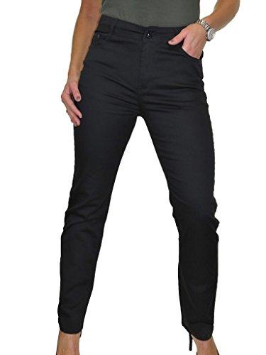 avec Tissu Jeans Brillance Haute Taille 38 pour Noir 52 Femme xw71a