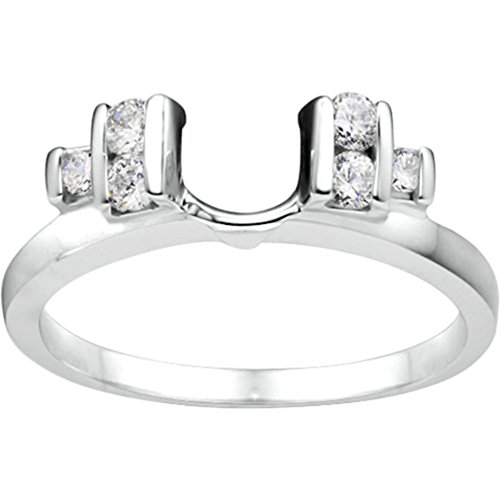 Diamond Classic Three Stone Inspired Ring Wrap mounted in 10K Rose Gold (0.24 ct twt.) Diamonds G-H I1-I2
